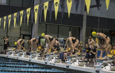 Hawkeye swimming and diving goes 1-3 in triangular with Michigan and Denver