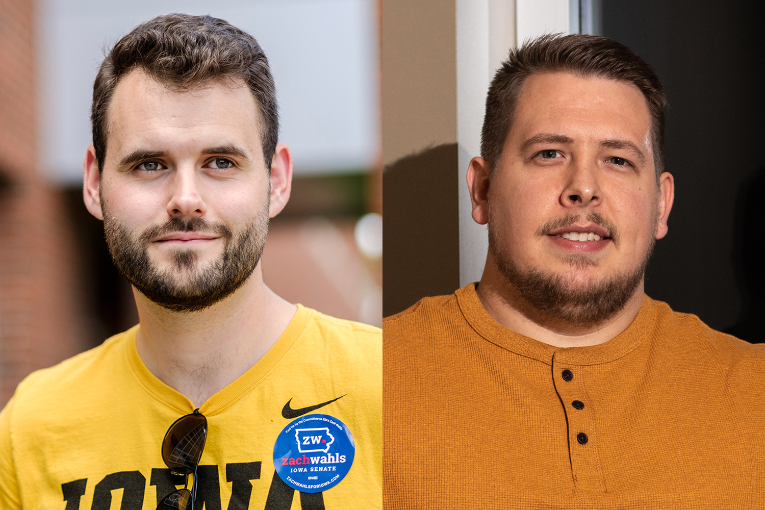 Zach Wahls (left) and Carl Krambeck (right) are running for Iowa state Senate in the 37th District.