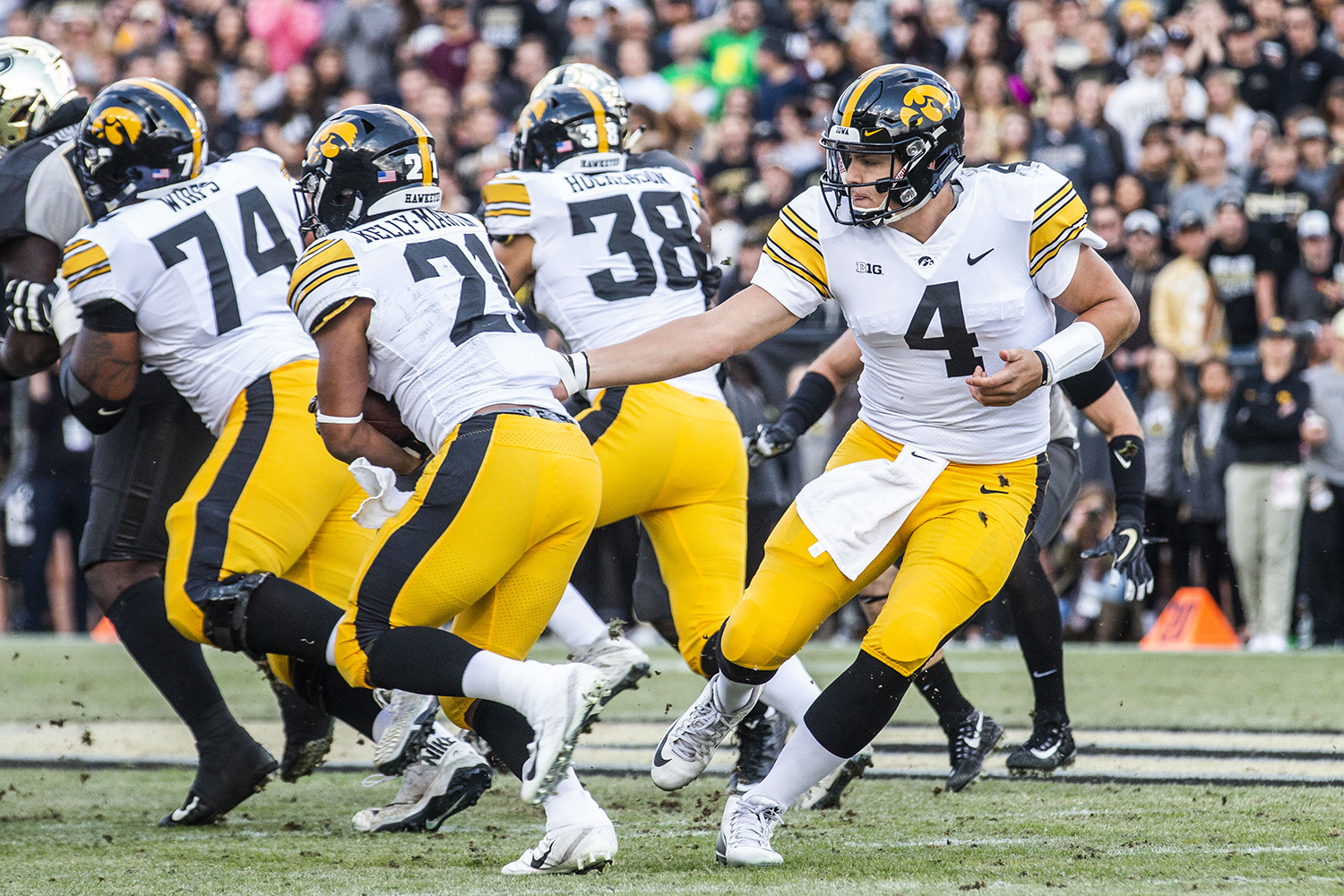 Iowa+quarterback+Nate+Stanley+hands+the+ball+off+to+Iowa+running+back+Ivory+Kelly-Martin+during+the+Iowa%2FPurdue+game+at+Ross-Ade+Stadium+in+West+Lafayette%2C+Ind.+on+Saturday%2C+November+3%2C+2018.+The+Boilermakers+defeated+the+Hawkeyes+38-36.+