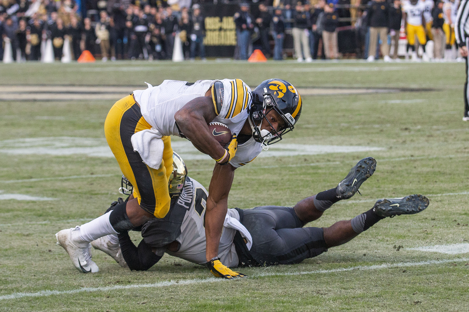 Iowa+wide+receiver+Brandon+Smith+runs+the+ball+during+the+Iowa%2FPurdue+game+at+Ross-Ade+Stadium+in+West+Lafayette%2C+Ind.+on+Saturday%2C+November+3%2C+2018.+The+Boilermakers+defeated+the+Hawkeyes+38-36.+