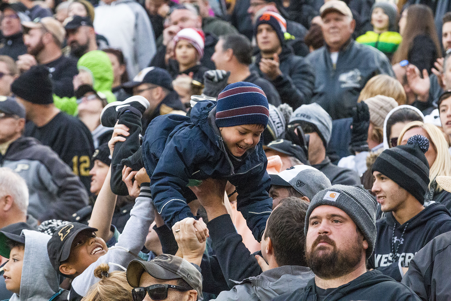 A+young+fan+cheers+during+the+Iowa%2FPurdue+game+at+Ross-Ade+Stadium+in+West+Lafayette%2C+Ind.+on+Saturday%2C+November+3%2C+2018.+The+Boilermakers+defeated+the+Hawkeyes+38-36.+