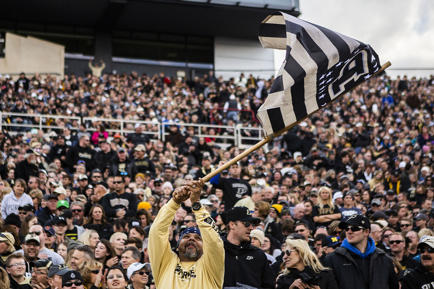 A+Purdue+waves+a+flag+during+the+Iowa%2FPurdue+game+at+Ross-Ade+Stadium+in+West+Lafayette%2C+Ind.+on+Saturday%2C+November+3%2C+2018.+The+Boilermakers+defeated+the+Hawkeyes+38-36.+
