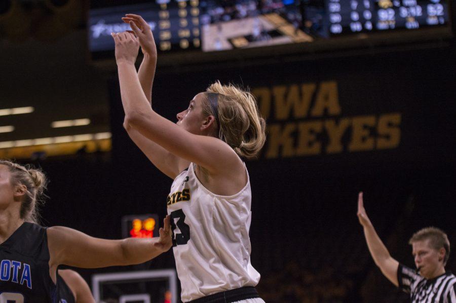 Iowa+women%27s+basketball+crushes+Dakota+Wesleyan+in+first+exhibition