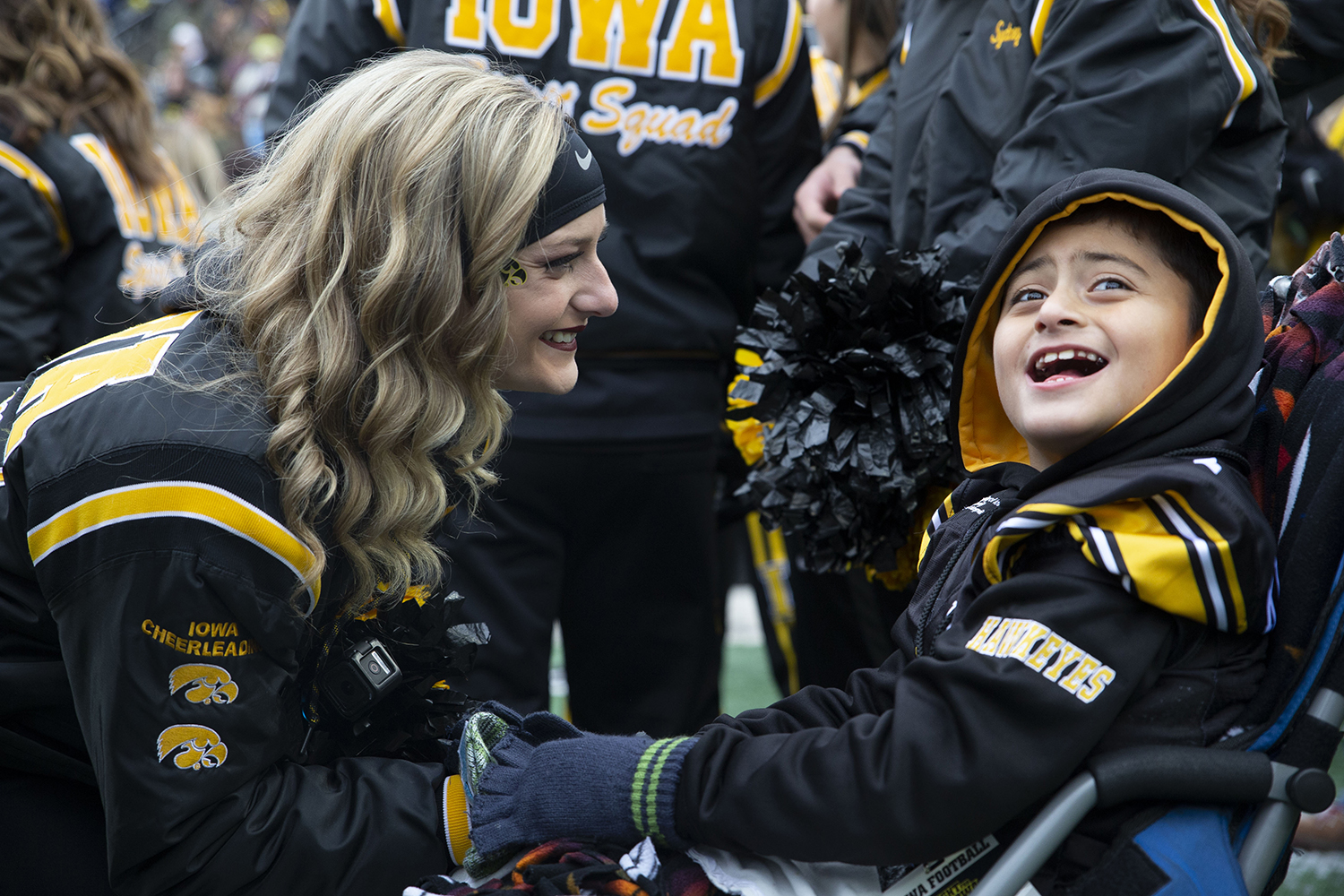 Kid+Captain+Mason+Gonzalez+smiles+before+the+Iowa%2FNorthwestern+game+at+Kinnick+Stadium+on+Saturday%2C+November+10%2C+2018.+The+Wildcats+defeated+the+Hawkeyes+14-10.+%28Katina+Zentz%2FThe+Daily+Iowan%29