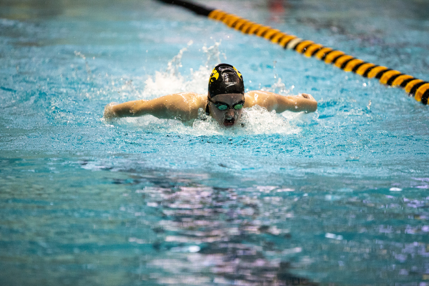Amy Lenderink competes in the women's 200 meter breaststroke during the Hawkeye Invitational Swimming and Diving Meet on Saturday, November 17, 2018. Fifteen university swimming and diving teams competed at this event.