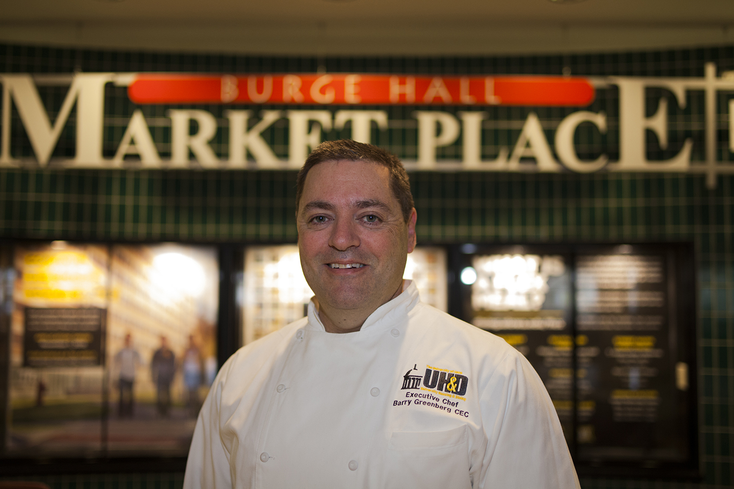 University of Iowa Dining Hall Chef Barry Greenberg poses for a portrait on Monday, Nov. 12, 2018. Barry just won Minor's Flavor Contest and has been rewarded with a trip to France, and $10,000.