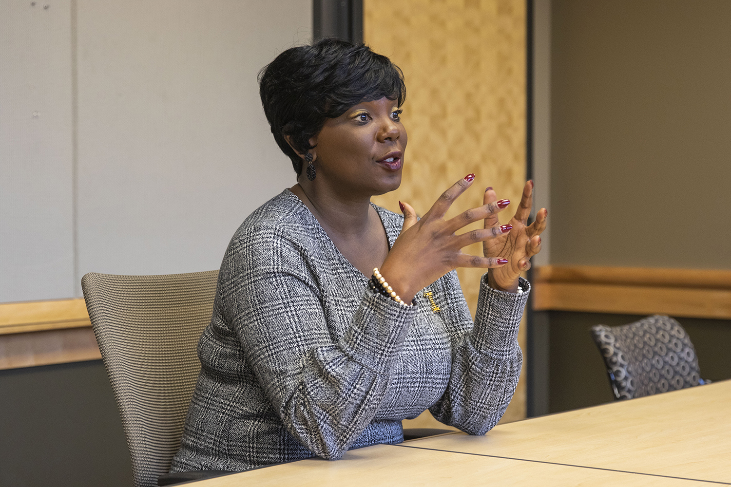 UI VP for Student Life Melissa Shivers speaks in an interview with The Daily Iowan on Tuesday, Oct. 30, 2018.