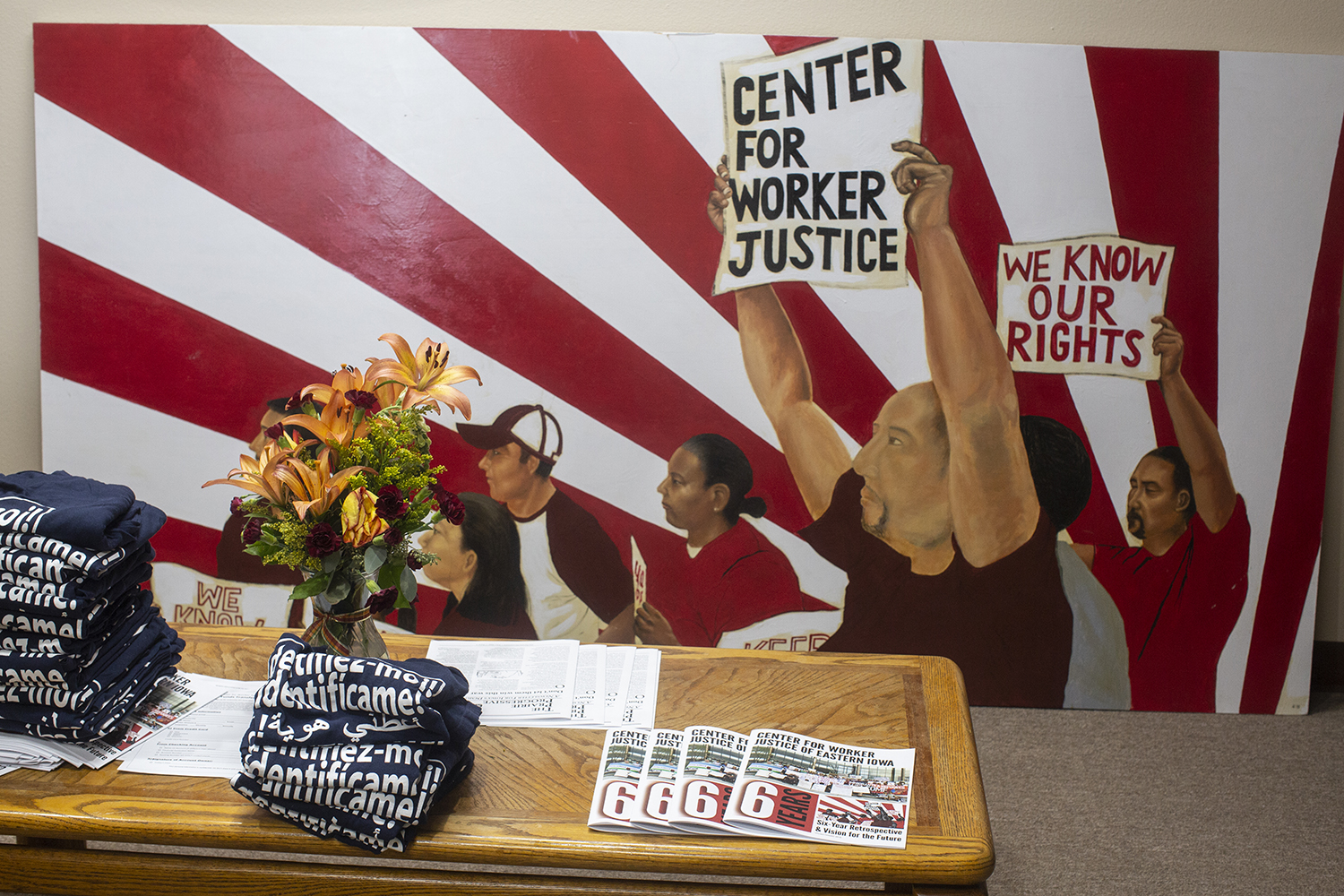 The Center for Worker Justice recently moved to a new location in order to expand the amount of space they had available for offices and meeting rooms.