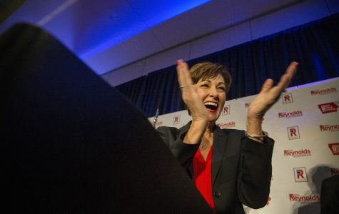 Kim Reynolds wins, becoming Iowa's first elected female governor