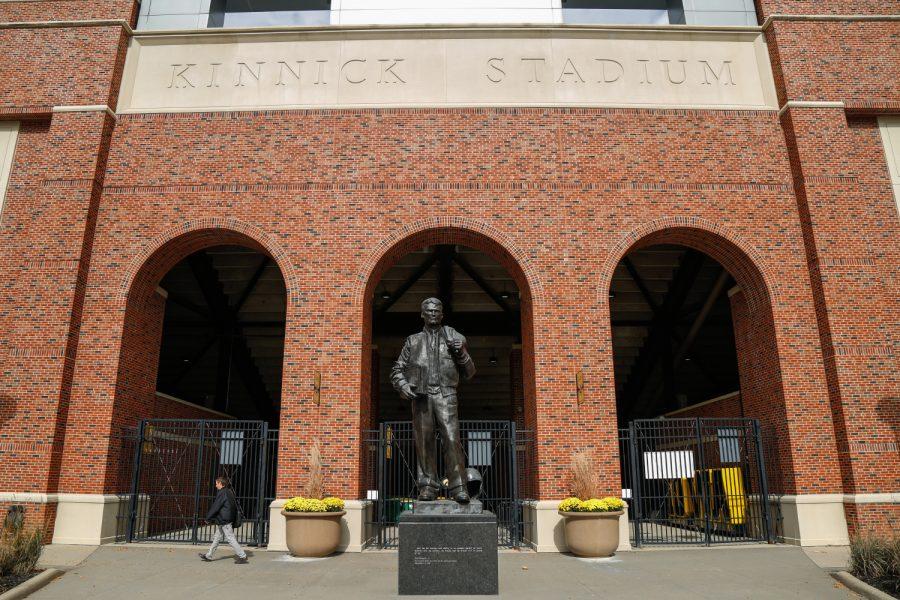 University of Iowas Kinnick Stadium on Stadium Drive on Wednesday, Oct. 19, 2016. The University of Iowa is considering spending $100,000 to renovate a portion of the stadium. (The Daily Iowan/Anthony Vazquez)