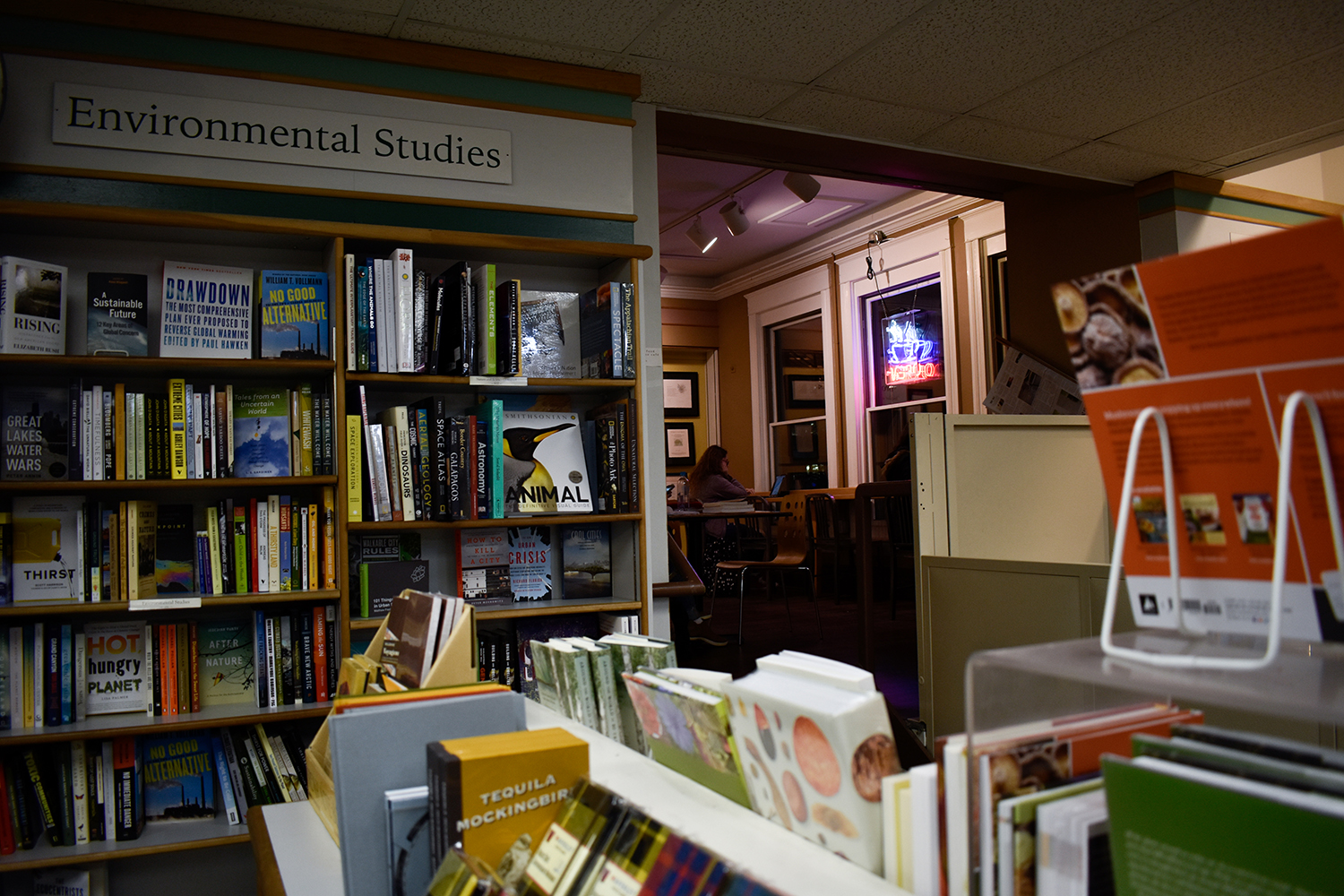 Prairie Lights, an independent bookstore downtown, is seen on Monday, November 12, 2018. (Sid Peterson/The Daily Iowan)