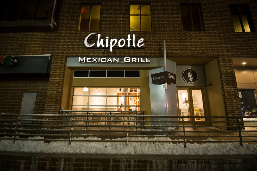 Chipotle mexican grill located in the Old Capital Mall in Iowa City on November 26, 2018.