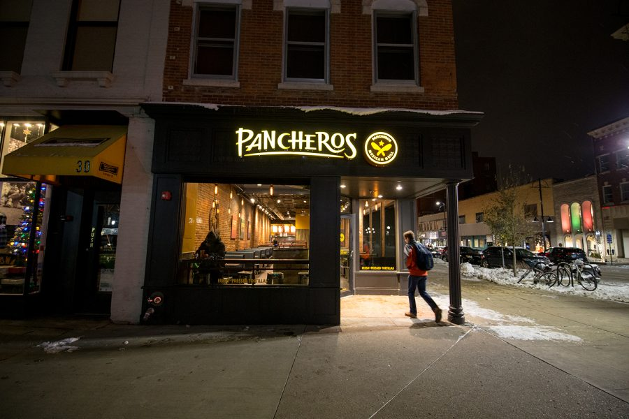 The first original location of the food chain Pancheros in Iowa City as seen on November 26, 2018.