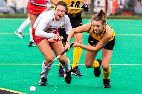 Iowa field hockey falls in regular-season finale