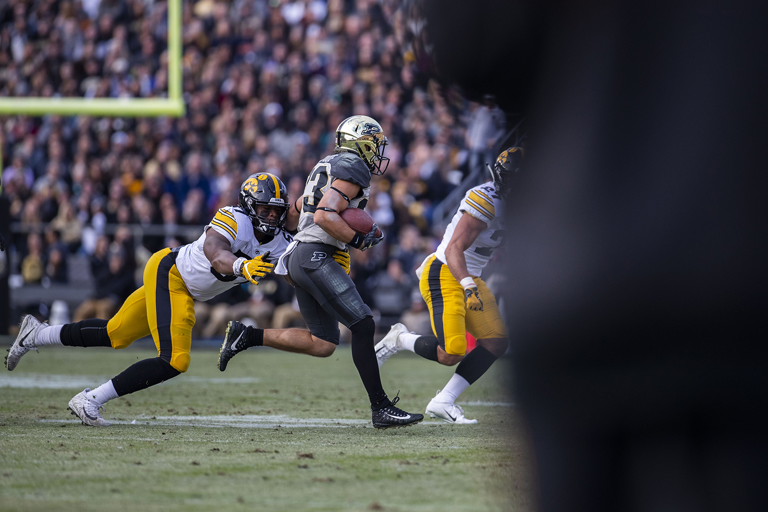 Iowa+defensive+back+Chauncey+Golston+tackles+Purdue+during+the+Iowa%2FPurdue+game+at+Ross-Ade+Stadium+in+West+Lafayette%2C+Ind.+The+Boilermakers+defeated+the+Hawkeyes%2C+38-36%2C+with+a+last+second+field+goal.+