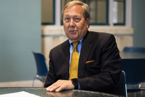 Harreld on funding, scholarships, travel ban