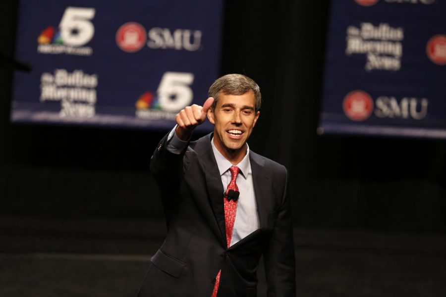 Rep.+Beto+O%27Rourke+%28D-Texas%29+during+a+debate+with+Sen.+Ted+Cruz+%28R-Texas%29+at+McFarlin+Auditorium+at+Southern+Methodist+University+in+Dallas+on+Friday%2C+Sept.+21%2C+2018.+%28Nathan+Hunsinger%2FDallas+Morning+News%2FTNS%29