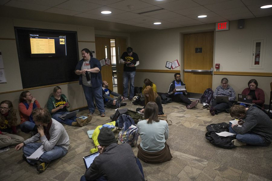 On Tuesday, Dec. 12, 2018, COGS staged a work-in in the IMU.