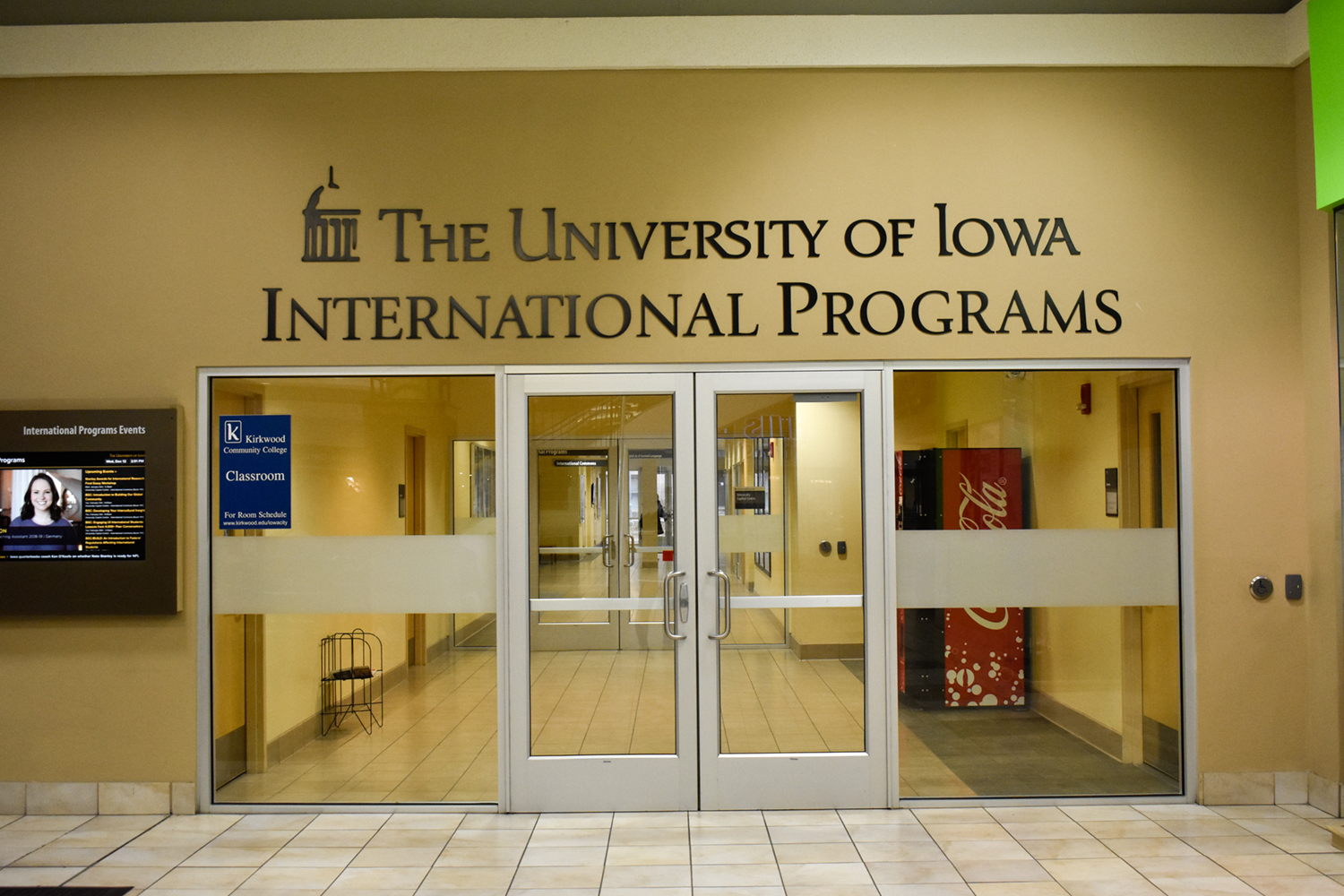The University of Iowa International Programs office is seen at the University Capitol Centre on Wednesday, December 12, 2018