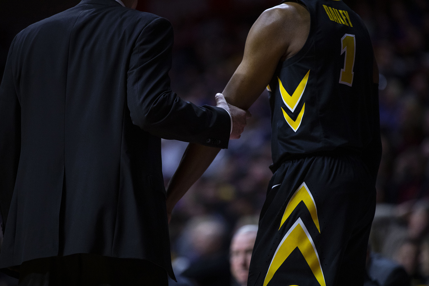 Iowa+head+coach+Fran+McCaffery+sends+guard+Maishe+Dailey+into+the+game+during+the+Iowa%2FUNI+men%27s+basketball+game+at+Wells+Fargo+Arena+in+Des+Moines+on+Saturday%2C+Dec.+15%2C+2018.+The+Hawkeyes+defeated+the+Panthers%2C+77-54.+