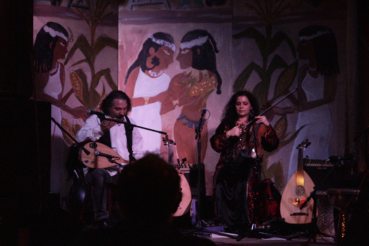 Raqsat Salaam performs traditional Middle Eastern music at the Trumpet Blossom Cafe this Thurs.