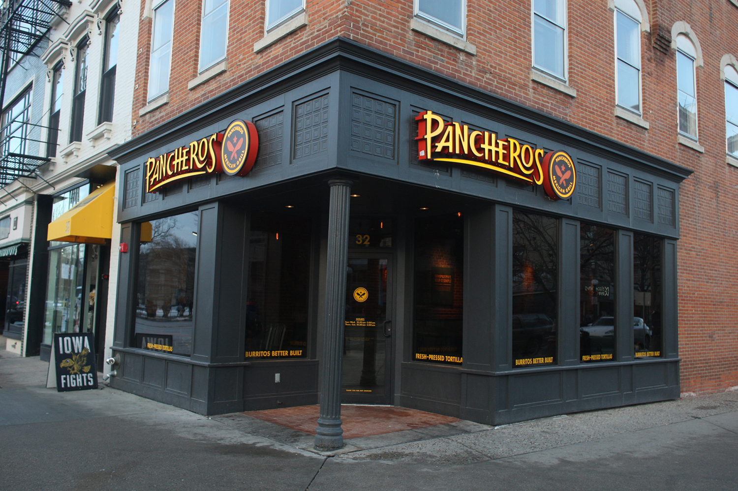 Pancheros sits open downtown Iowa City on Monday, Jan. 26, 2015. Pancheros is one of four sponsors for Dance Marathon this year.