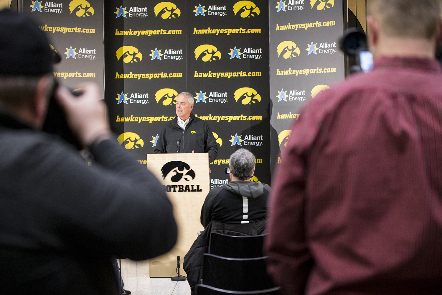UI Athletics Gary Barta announces that Iowa has accepted a bid to the 2019 Outback Bowl. Iowa finished the regular season 8-4 and will play in the Outback Bowl for the third time in six seasons. (Beau Bowman/The Daily Iowan)