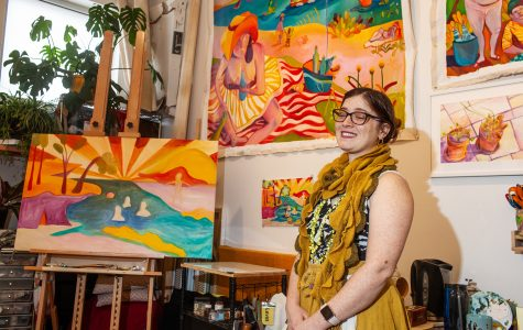 Bringing bright color to a dreary Iowa winter through art