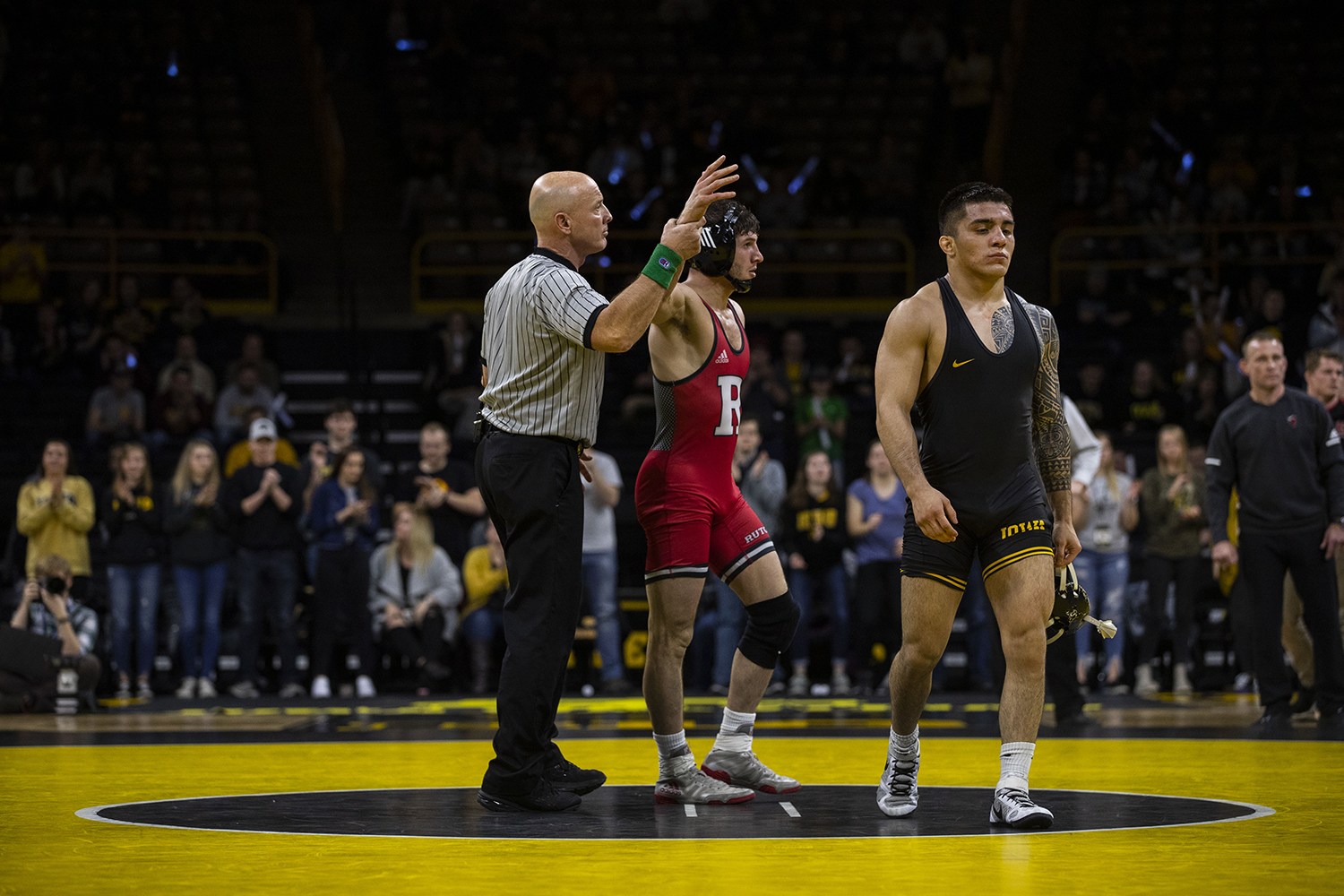 Rutgers%27+%232+Anthony+Ashnault+defeats+Iowa%27s+%2312+Pat+Lugo+during+the+Iowa%2FRutgers+wrestling+meet+at+Carver-Hawkeye+Arena+on+Friday%2C+January+18%2C+2019.+Ashnault+defeated+Lugo%2C+3-0.+The+Hawkeyes+defeated+the+Scarlet+Knights%2C+30-6.+