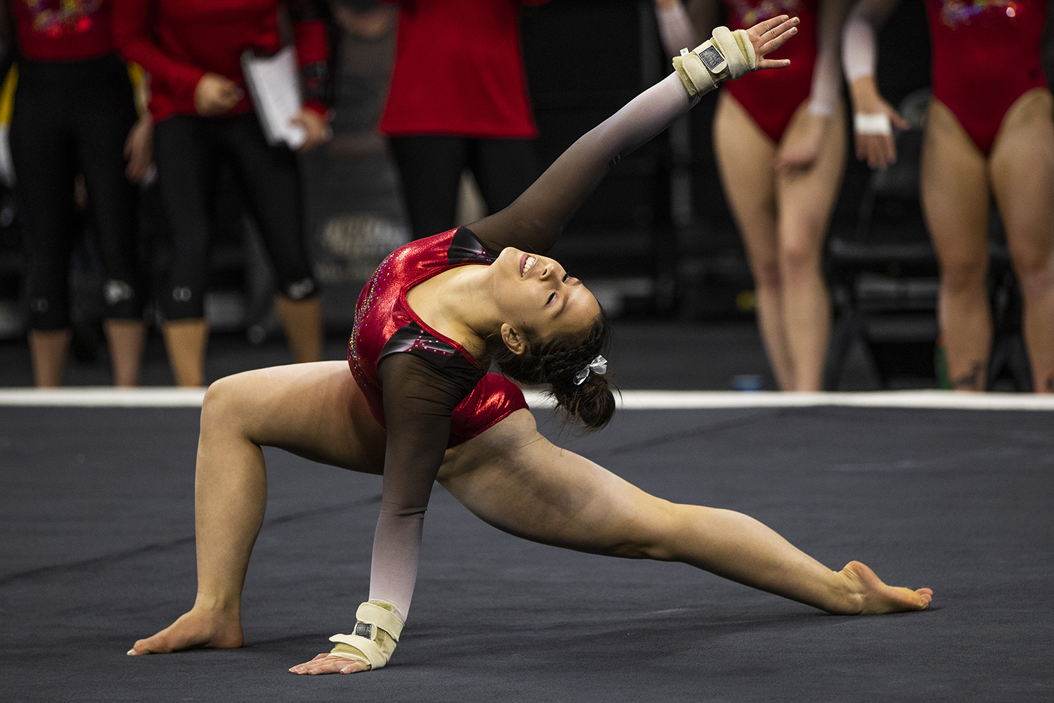 SEMO+gymnast+Alana+Fischer+performs+on+the+floor+during+the+women%27s+gymnastics+meet+vs.+SEMO+at+Carver-Hawkeye+Arena+on+Friday%2C+January+11%2C+2019.+The+GymHawks+defeated+the+Redhawks+194.700-180.925.+