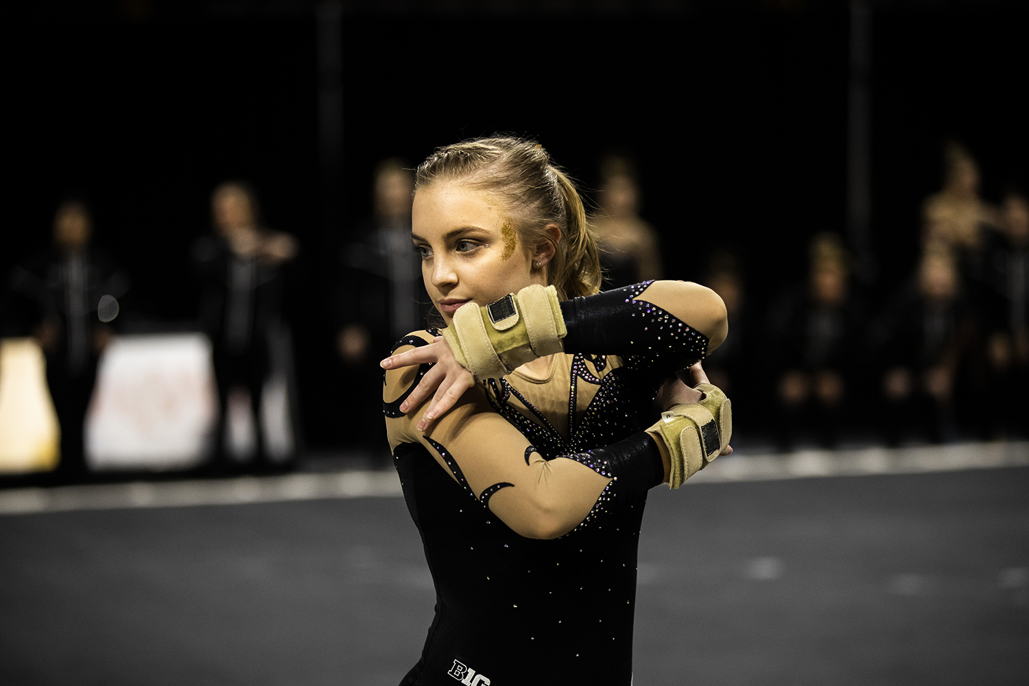 Iowa+gymnast+Lauren+Guerin+performs+on+the+floor+during+the+women%27s+gymnastics+meet+vs.+SEMO+at+Carver-Hawkeye+Arena+on+Friday%2C+January+11%2C+2019.+The+GymHawks+defeated+the+Redhawks+194.700-180.925.+