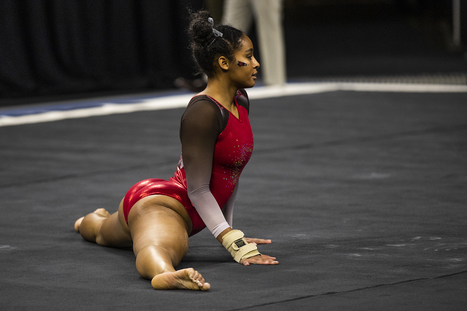 SEMO+gymnast+Gabrielle+Adams+performs+on+the+floor+during+the+women%27s+gymnastics+meet+vs.+SEMO+at+Carver-Hawkeye+Arena+on+Friday%2C+January+11%2C+2019.+The+GymHawks+defeated+the+Redhawks+194.700-180.925.+