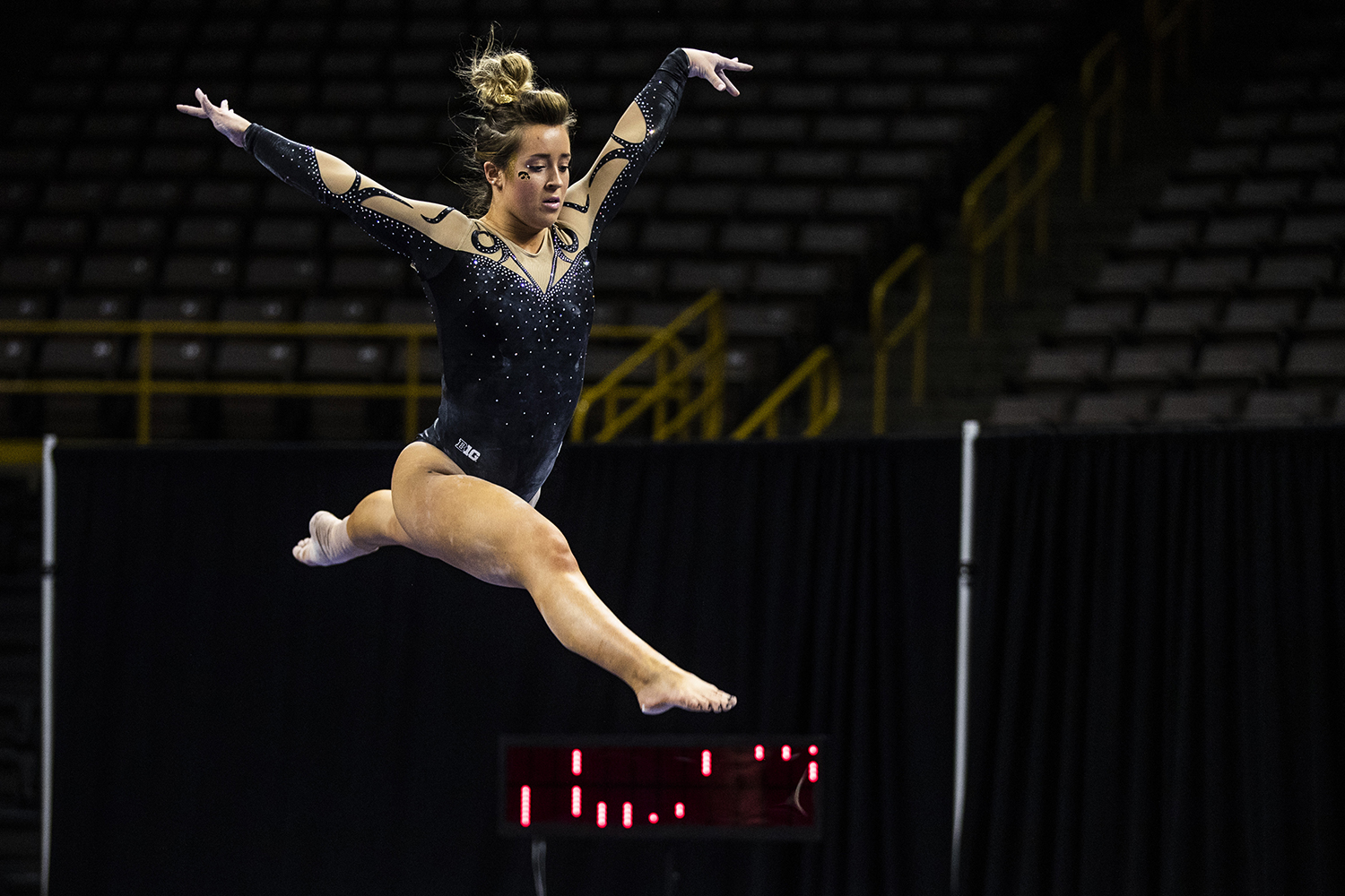 Iowa+gymnast+Maddie+Kampschroeder+performs+on+the+beam+during+the+women%27s+gymnastics+meet+vs.+SEMO+at+Carver-Hawkeye+Arena+on+Friday%2C+January+11%2C+2019.+The+GymHawks+defeated+the+Redhawks+194.700-180.925.+
