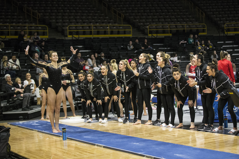 Iowa+gymnast+Mackenzie+Vance+prepares+to+vault+during+women%27s+gymnastics+vs.+SEMO+at+Carver-Hawkeye+Arena+on+Friday%2C+January+11%2C+2019.+The+GymHawks+defeated+the+Redhawks+194.700-180.925.+