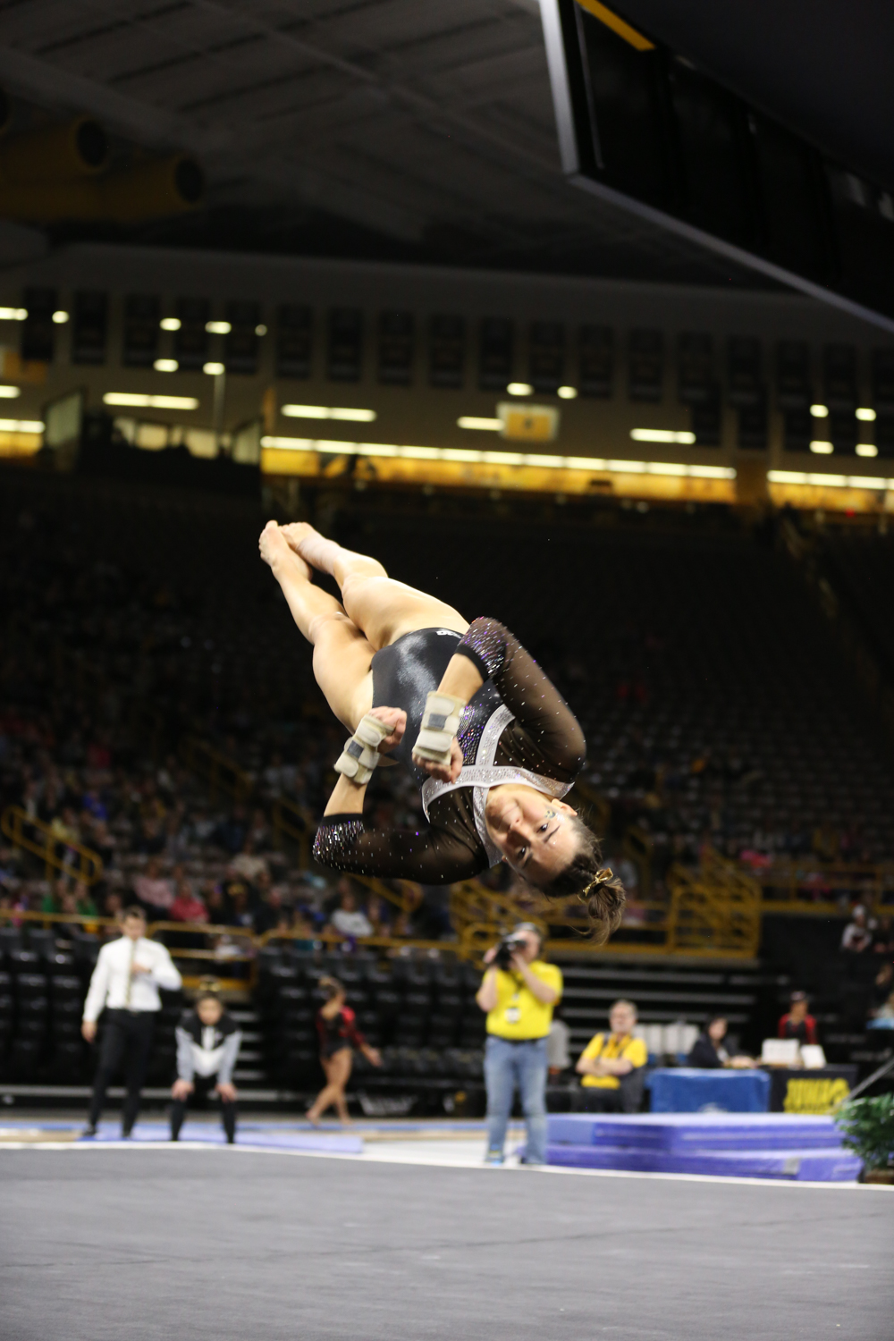 Iowa+Gymnast+Allie+Gilchrist+performs+during+the+floor+event+during+a+gymnastics+meet+against+Rutgers+on+Saturday%2C+Jan.+26%2C+2019.+The+Hawkeyes+defeated+the+Scarlet+Knights+194.575+to+191.675.+