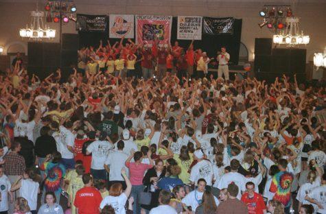 Dancin' the night away at Dance Marathon 2000.