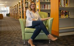 Krystal Parker poses for a portrait in the Iowa City Public Library on Friday, January 25 2019. Parker recently received a 2.1 million dollar grant for her research on the cerebellum.