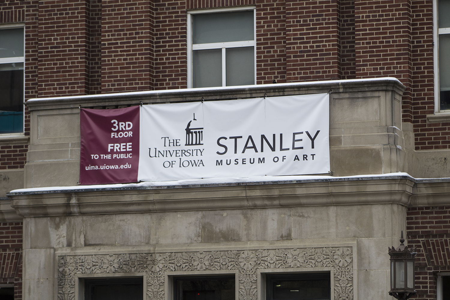 The Stanley Museum of Art sign is seen outside of the IMU on Monday, January 14, 2019.