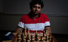 Arshaq Saleem, UIowa freshman, poses for a portrait on January 17, 2019. Saleem tied for chess state champion in 2018 and is the president of the University of Iowa's newly reinstated Chess Club.