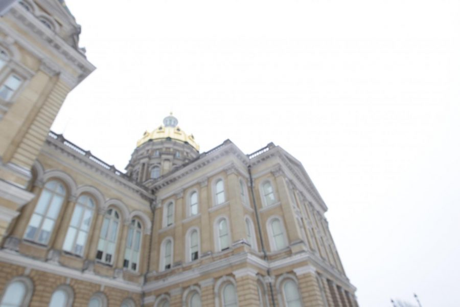 The Iowa Capitol is seen on Jan. 14 during the first day of the Legislative session. (Emily Wangen/The Daily Iowan)