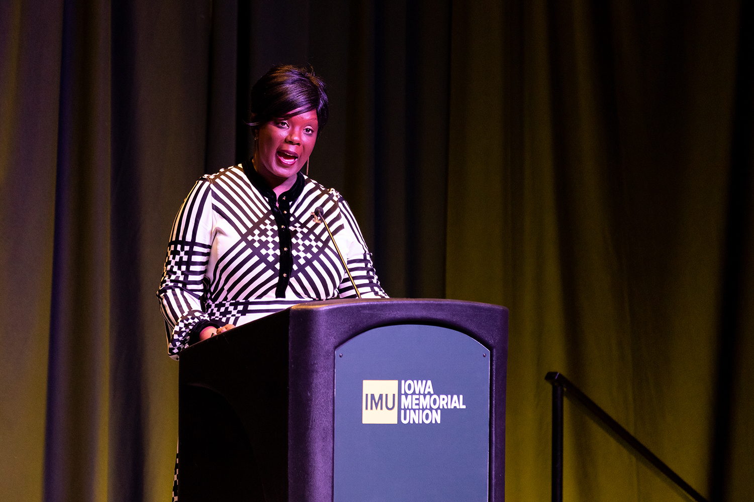UI Vice President for Student Life Melissa Shivers speaks at the Chief Diversity Office's 2019 Update on Diversity, Equity, and Inclusion in the IMU on Wednesday, Jan. 16, 2019.