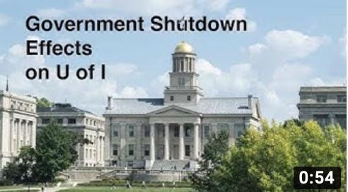 Video: Impact of Government Shutdown on the University of Iowa