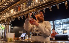 Zach Suiter pours a beer at Big Grove Brewery in Iowa City on Monday, January 28, 2019. Tailwind, a collaborative brew between Ragbrai and Big Grove, will be available in May.