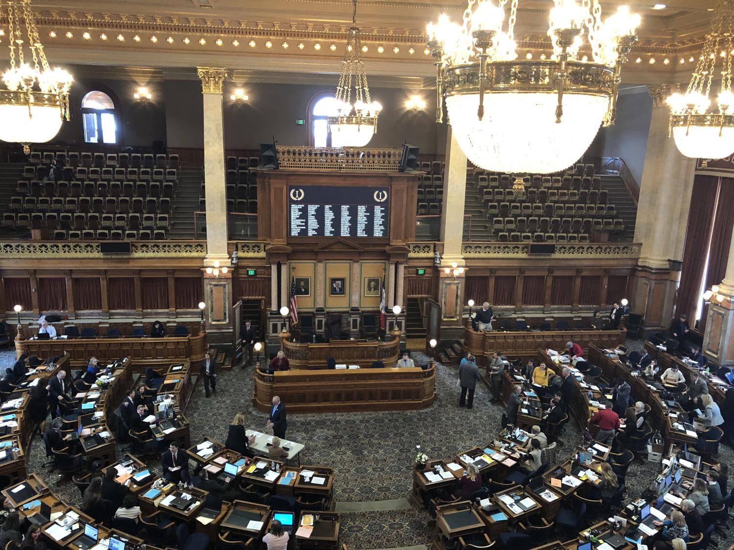 The Iowa Legislature gaveled in Monday, Jan. 14, 2019 to start the 2019 legislative session. Top issues Republican leadership and area legislators have identified include reducing taxes and government oversight, mental health, and felon-voting reform.