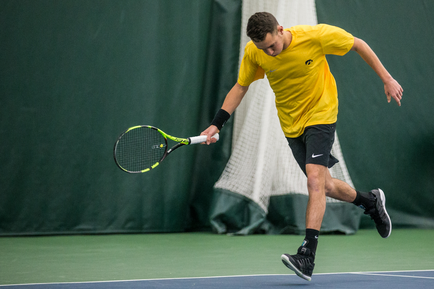 Iowa%27s+Kareem+Allaf+runs+down+a+ball+during+a+men%27s+tennis+matchup+between+Iowa+and+Butler+on+Sunday%2C+January+27%2C+2019.+The+Hawkeyes+defeated+the+Bulldogs%2C+5-2.