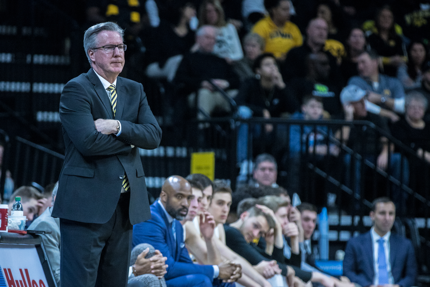 Iowa+head+coach+Fran+McCaffery+watches+his+team+during+a+men%27s+basketball+matchup+between+Ohio+State+and+Iowa+at+Carver-Hawkeye+Arena+on+Saturday%2C+January+12%2C+2019.+The+Hawkeyes+defeated+the+Buckeyes%2C+72-62.
