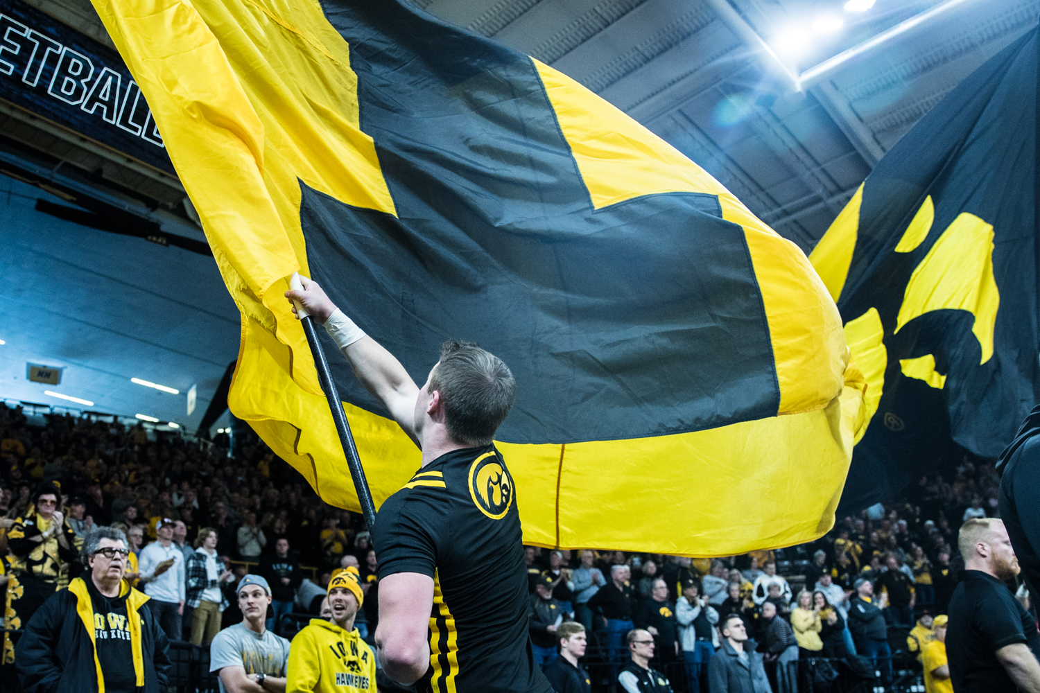 Iowa+spirit+teams+pump+up+the+crowd+during+a+men%27s+basketball+matchup+between+Ohio+State+and+Iowa+at+Carver-Hawkeye+Arena+on+Saturday%2C+January+12%2C+2019.+The+Hawkeyes+defeated+the+Buckeyes%2C+72-62.