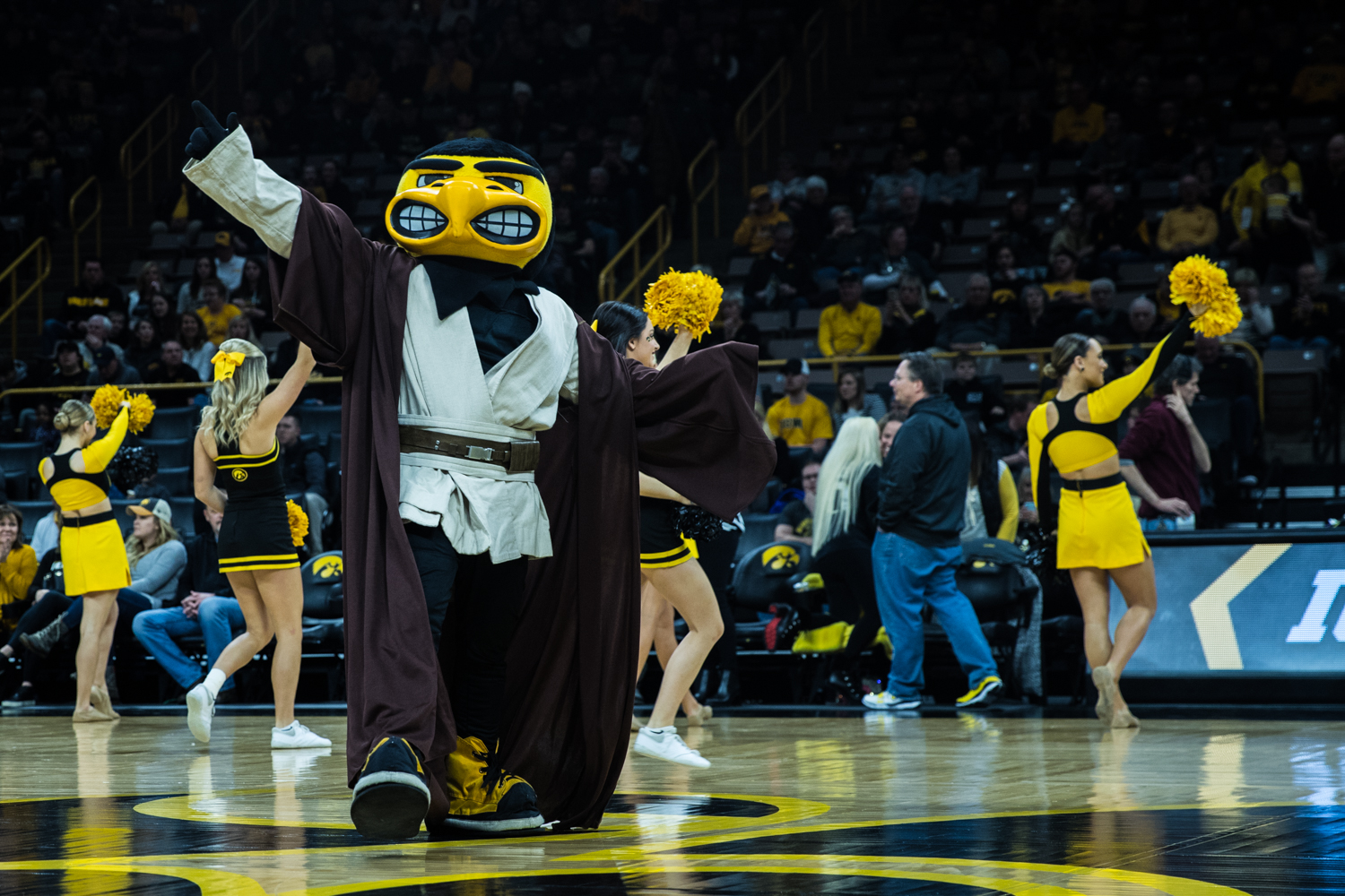 Herky+is+introduced+during+a+men%27s+basketball+matchup+between+Ohio+State+and+Iowa+at+Carver-Hawkeye+Arena+on+Saturday%2C+January+12%2C+2019.+The+Hawkeyes+defeated+the+Buckeyes%2C+72-62.