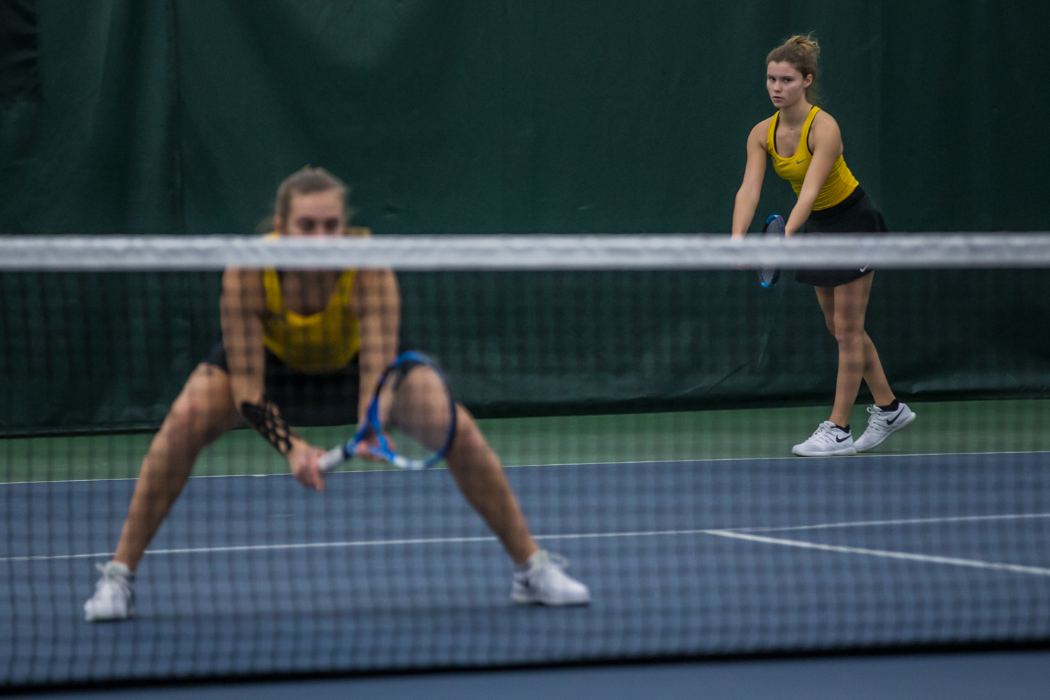Iowa%27s+Cloe+Ruette+prepares+to+serve+during+a+women%27s+tennis+match+between+Iowa+and+Xavier+at+the+Hawkeye+Tennis+and+Recreation+Center+on+Friday%2C+January+18%2C+2019.+The+Hawkeyes+swept+the+Musketeers%2C+7-0.