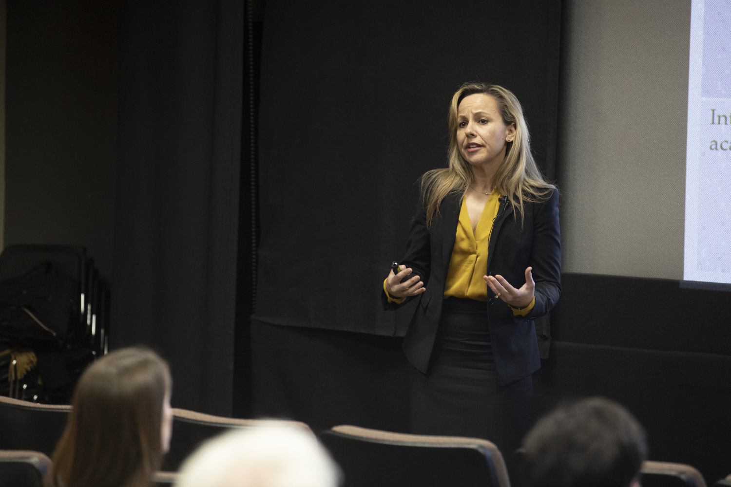 Montse Fuentes speaks during the provost forum on Thursday, February 7, 2019. This is the third and final story for the search.